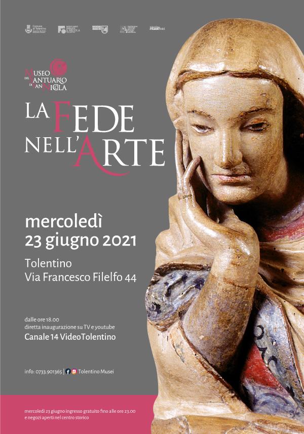 """Inaugurazione Mostra """"La Fede nell'Arte"""" – Tolentino """"Museo del Santuario"""" – 23 Giugno 2021 ore 18.00"""