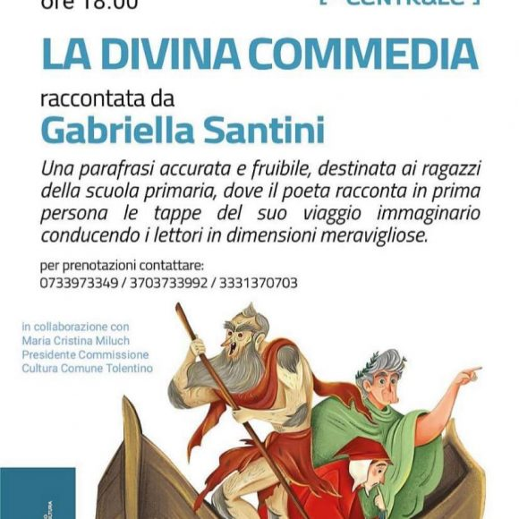 La Divina Commedia Raccontata da Gabriella Santini – Venerdì 2 Luglio 2021 ore 18.00